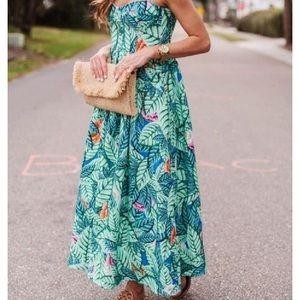 Mara Hoffman Leaf Print Bustier Dress